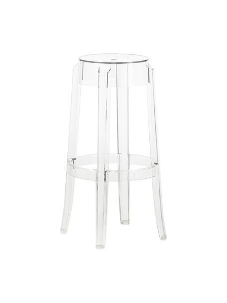 Transparante barkruk Ghost, Polycarbonaat, Transparant, Ø 46 x H 75 cm