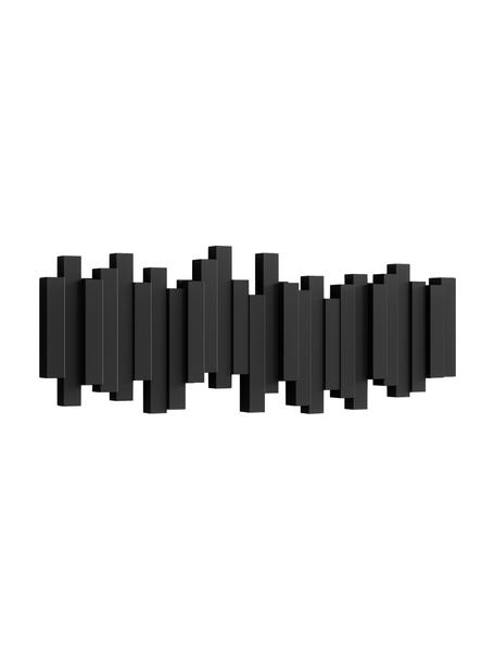 Ganci appendiabiti color nero Sticks, Materiale sintetico, Nero, Larg. 48 x Alt. 18 cm