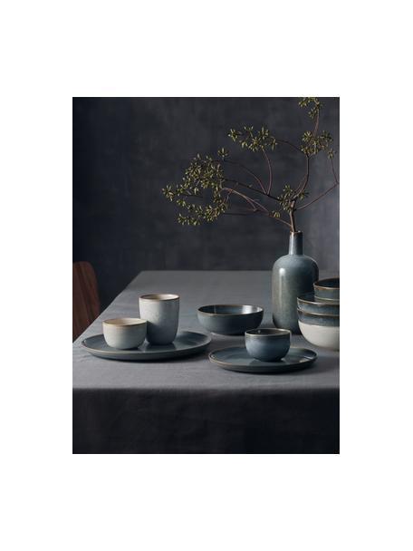 Insalatiera in gres blu Saisons, Ø 22 cm, Gres, Blu, Ø 22 x Alt. 11 cm