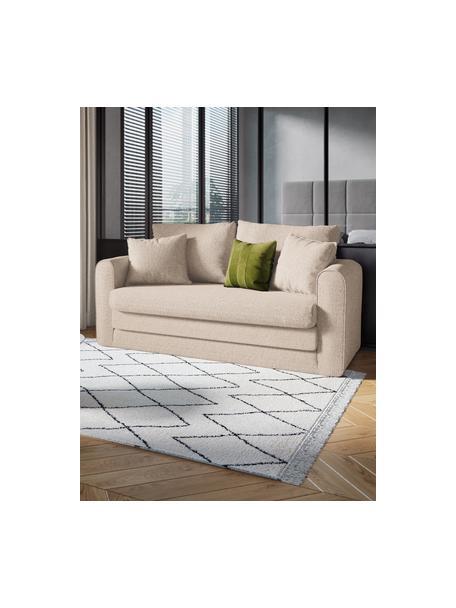 Sofá cama Lido (2plazas), Tapizado: poliesto con tacto de lin, Estructura: madera de pino maciza, ag, Patas: plástico, Beige claro, An 158 x F 69 cm
