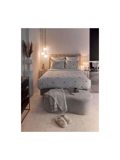 Lámpara de techo Edie, Anclaje: metal latón, Cable: cubierto en tela, Blanco, latón, An 30 x F 30 cm