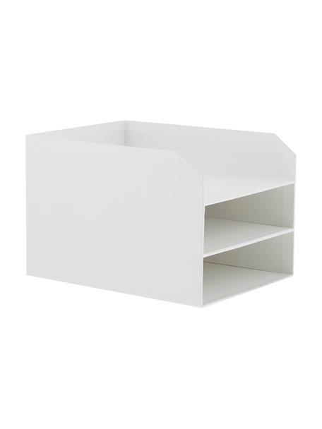 Organizer per documenti  Trey, Cartone solido e laminato, Bianco, Larg. 23 x Alt. 21 cm