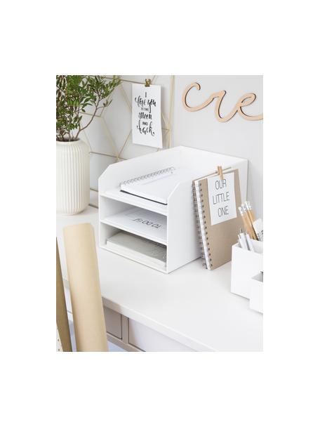 Organizadores de documentos Trey, Cartón laminado macizo, Blanco, An 23 x Al 21 cm