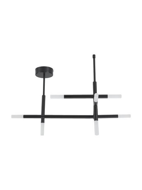 LED plafondlamp Gratia in zwart, Baldakijn: gegalvaniseerd metaal, Zwart, 76 x 50 cm
