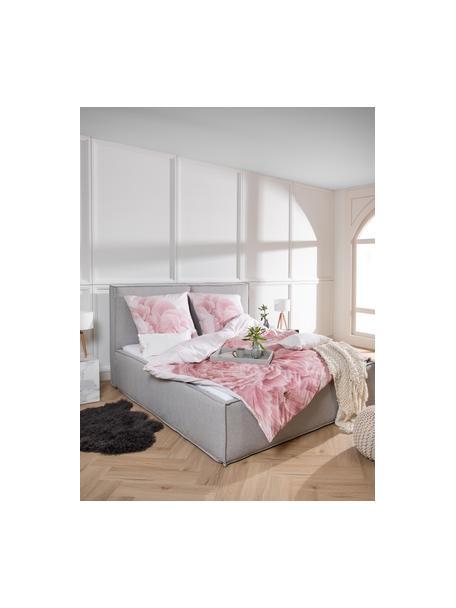 Poszewka na poduszkę z perkalu Rosario, 2 szt., Biały, blady różowy, S 40 x D 80 cm