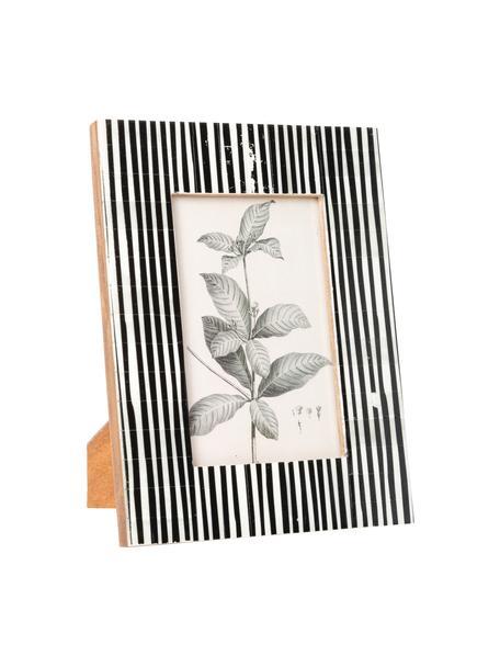 Ramka na zdjęcia Stripe, Czarny, biały, 10 x 15 cm