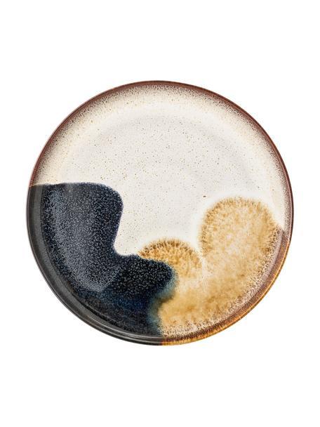 Handgemaakte dinerborden Jules van keramiek met kleurverloop, 2 stuks, Keramiek, Beige- en bruintinten, zwart, Ø 29 cm