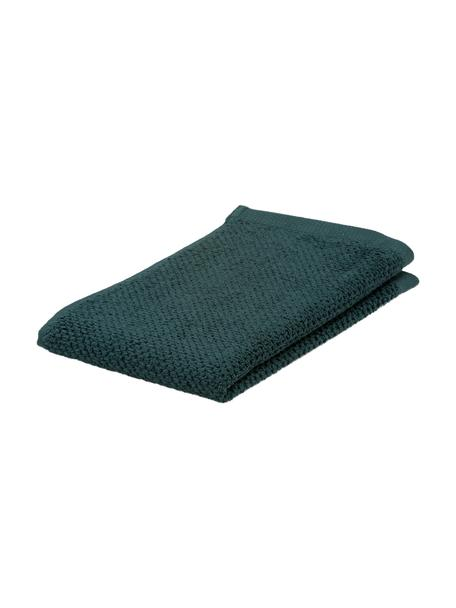 Gästehandtücher Connect Organic Uni aus Bio-Baumwolle, 2 Stück, Grün, 30 x 50 cm