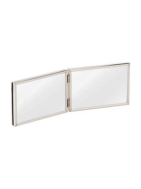 Portafoto multiplo in metallo Carla, Cornice: metallo, verniciato, Cornice: argento Fronte: trasparente, Larg. 15 x Alt. 10 cm