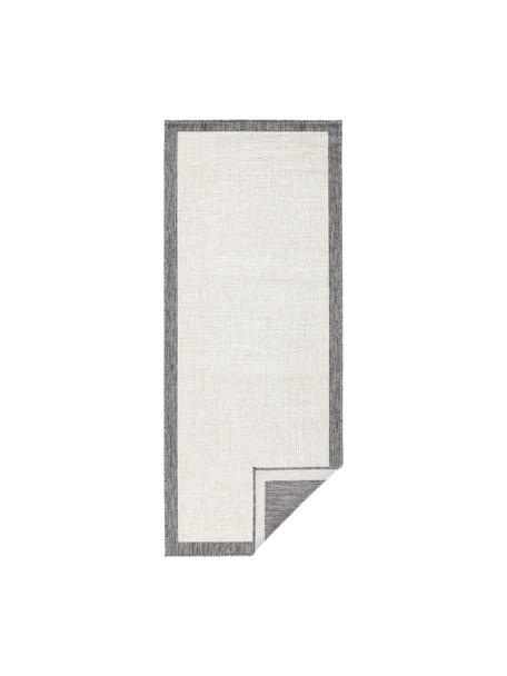 Alfombra reversible de interior/exterior Panama, Gris, crema, An 80 x L 250 cm