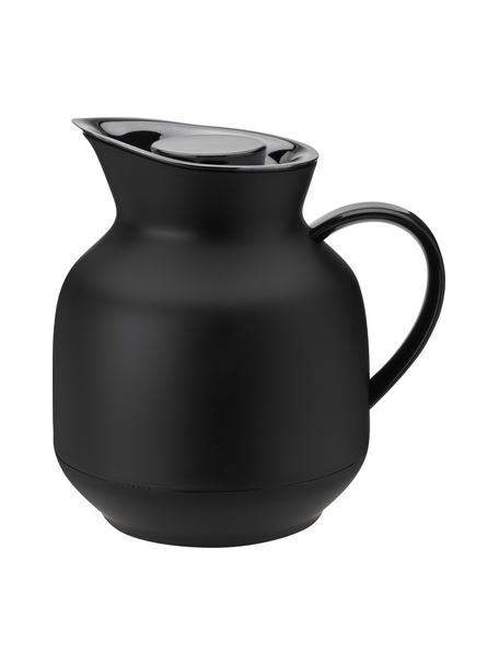 Isolierkanne Amphora in Schwarz matt/Silber, Kanne: Kunststoff, Schwarz, 1 L
