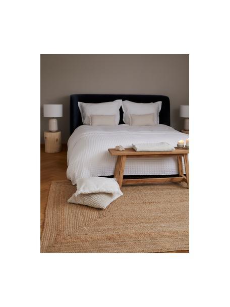 Poszewka na poduszkę z lnu z frędzlami Luana, 100% len, Beżowy, S 30 x D 50 cm