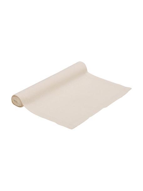 Tischläufer Riva aus Baumwollgemisch in Beige, 55%Baumwolle, 45%Polyester, Beige, 40 x 150 cm