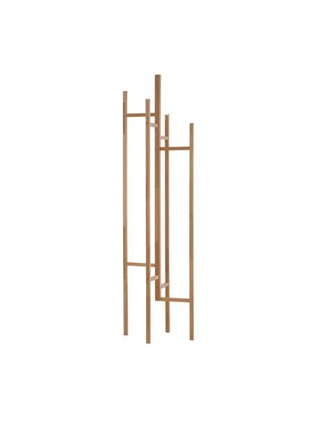 Perchero de madera Eigen, 5 ganchos, Madera de roble maciza, Roble, An 47 x Al 175 cm