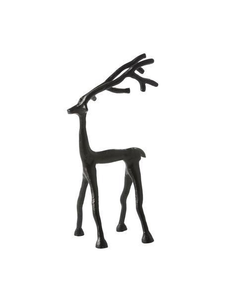 Figura decorativa Marley Reindeer, Aluminio recubierto, Negro, An 14 x Al 27 cm