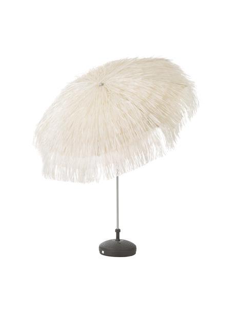 Beige parasol Hawaii met franjes, knikbaar, Ø 200 cm, Beige, Ø 200 x H 210 cm