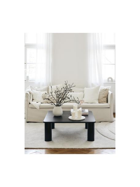 Stolik kawowy z drewna dębowego Didi, Lite drewno dębowe, lakierowane, Czarny, S 90 x W 35 cm