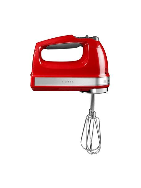 Handrührgerät KitchenAid, Gehäuse: Kunststoff., Rot, glänzend, 15 x 20 cm