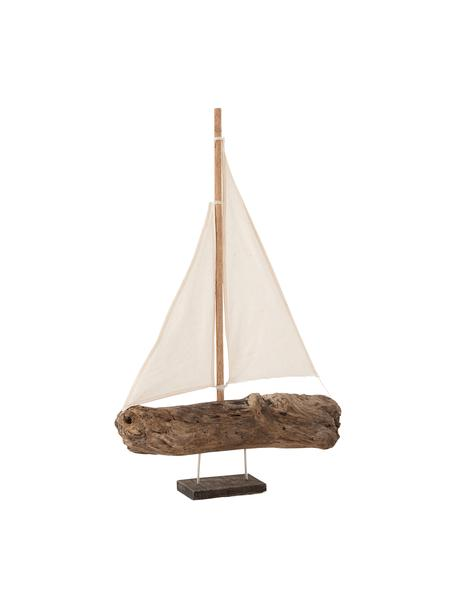 Dekoracja Sailboat, Drewno naturalne, Brązowy, beżowy, S 32 cm x W 46 cm