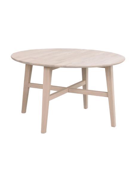 Hoger massief houten salontafel Filippa, Massief eikenhout, Eikenhoutkleurig, Ø 90 cm