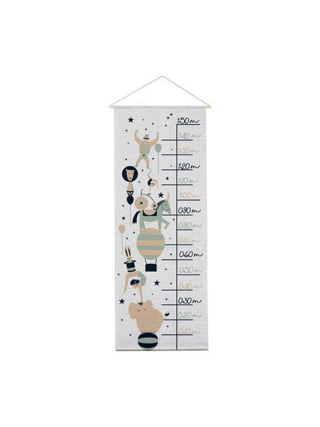 Groeimeter Circus, Polyester (microvezels), Grijs, zwart, groen, beige, 40 x 155 cm
