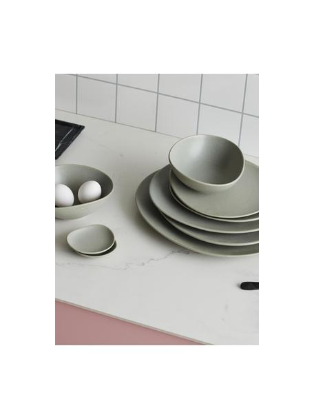 Keramische dipschalen Refine mat grijs in organische vorm Ø 9 cm, 4 stuks, Keramiek, Grijs, Ø 9 cm