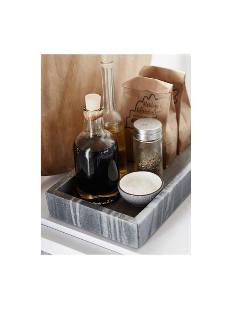 Taca z marmuru Bifrost, Marmur, Szary, marmurowy, S 30 x G 15 cm