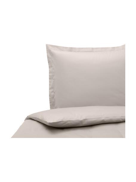Baumwollsatin-Bettdeckenbezug Premium in Taupe mit Stehsaum, Webart: Satin, leicht glänzend Fa, Taupe, 200 x 210 cm