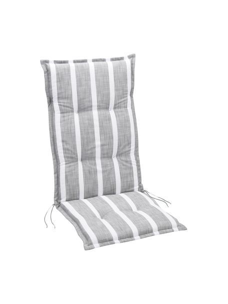 Hochlehner-Stuhlauflage Weston, Grau, Creme, 49 x 117 cm