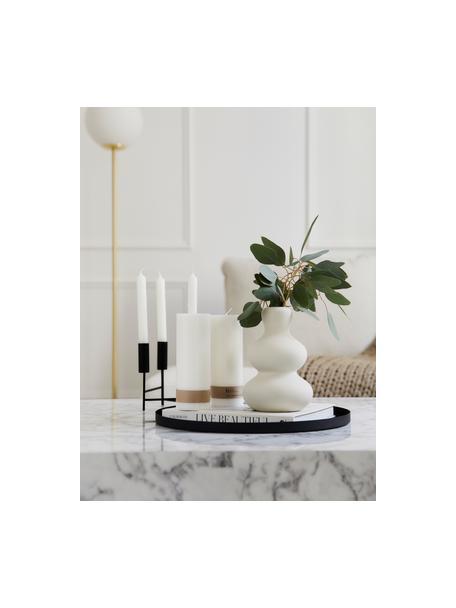 Jarrón de gres Ivory, Gres, Blanco, Ø 14 x Al 21 cm