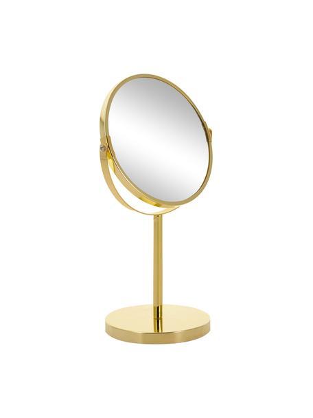 Runder Kosmetikspiegel Classic mit Vergrößerung, Spiegelfläche: Spiegelglas, Goldfarben, Ø 20 x H 35 cm