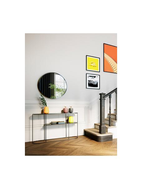 Metalen sidetable Grayson, Gecoat metaal, Zwart, 120 x 76 cm