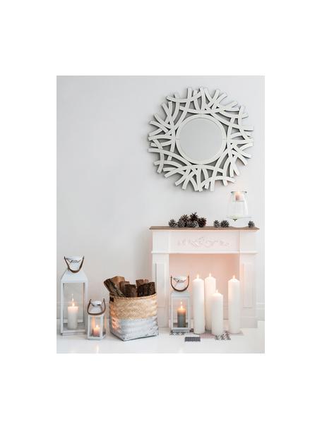 Marco de chimenea Fabienne, Tablero de fibra de densidad media y madera de paulownia, Blanco, An 104 x F 18 cm