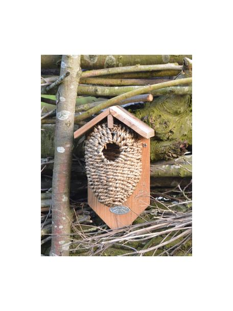 Wandobject Nest voor winterkoning, Bruin, 15 x 26 cm