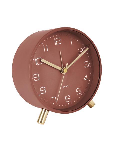 Wekker Lofty, Gelakt metaal, Rood, Ø 11 x D 5 cm