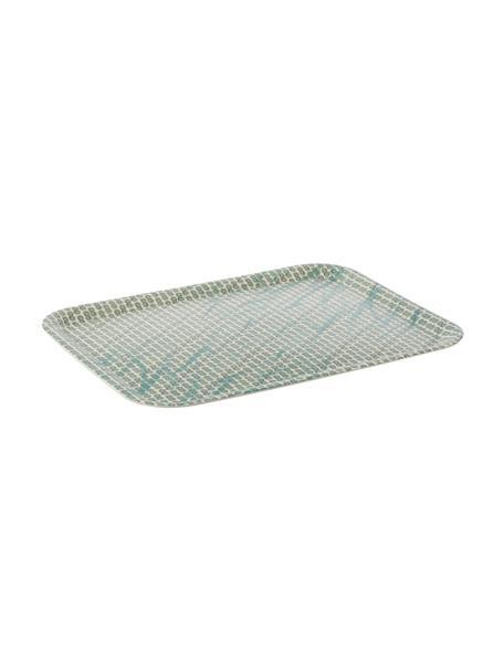 Tablett Tadpole aus Bambusfasern, L 44 x B 33 cm, Bambusfasern, Weß, Grün, Blau, 33 x 44 cm