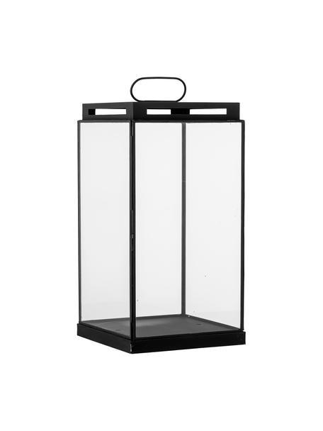 Lanterna in metallo Kriss, Struttura: metallo rivestito, Nero, Larg. 17 x Alt. 34 cm