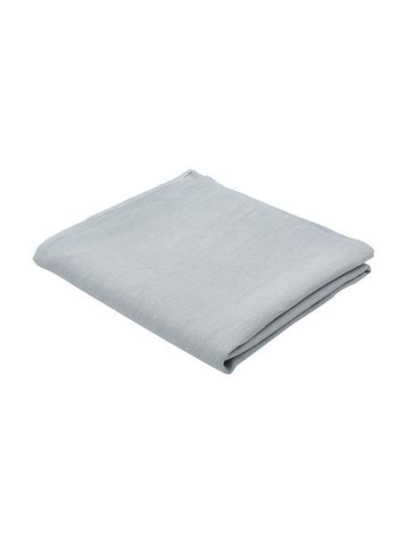 Linnen tafelkleed Heddie in grijsblauw, 100% linnen, Grijsblauw, Voor 6 - 10 personen (B 145 x L 250 cm)