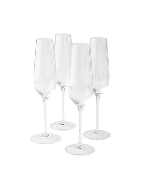 Flute champagne Akia 4 pz, Vetro, Trasparente, Ø 7 x Alt. 25 cm