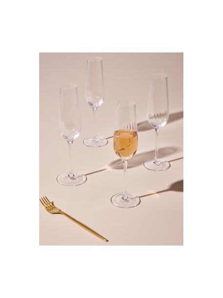 Kieliszek do szampana Akia, 4 szt., Szkło, Transparentny, Ø 7 x W 25 cm