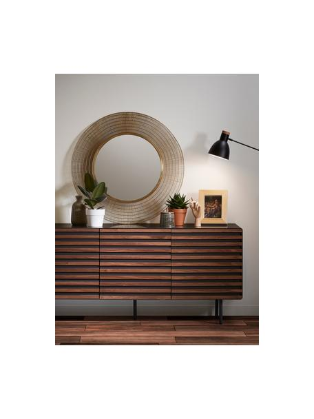 Komoda z drzwiczkami Kesia, Grafitowy, drewno orzecha włoskiego, S 162 x W 74 cm