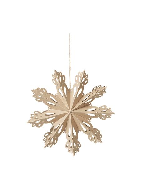 Schneeflocken-Anhänger Snowflake, Papier, Beige, Ø 30 cm