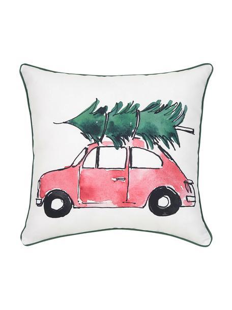 Poszewka na poduszkę Xmas Tree od Kery Till, Bawełna, Poduszka: wielobarwny Wykończenie brzegów: zielony, S 40 x D 40 cm