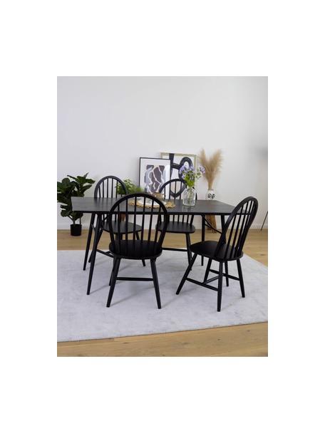 Sillas de madera Windsor Megan, 2uds., Madera de caucho lacada, Negro, An 46 x F 51 cm