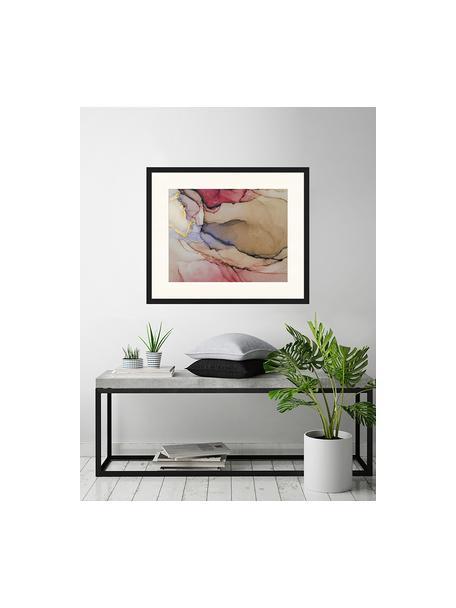 Ingelijste digitale print Modern Abstract Painting, Afbeelding: digitale print op papier,, Lijst: gelakt hout, Multicolour, 63 x 53 cm