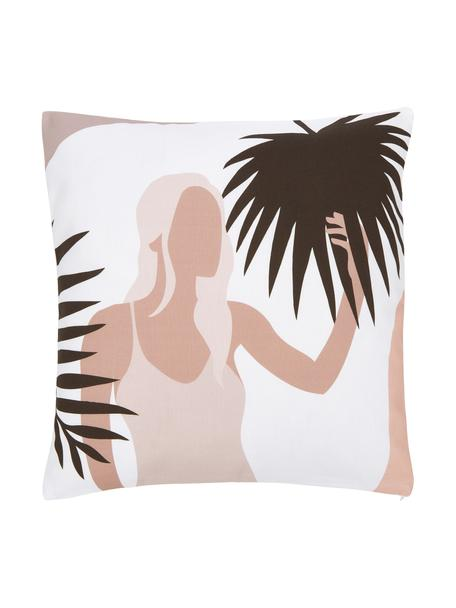 Kissenhülle Malena mit sommerlichem Motiv, 100% Baumwolle, GOTS-zertifiziert, Mehrfarbig, 45 x 45 cm