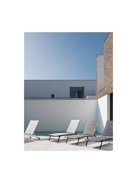 Gartenliege Cleopas, Bezug: 100% Polyester, Gestell: Aluminium, pulverbeschich, Rollen: Kunststoff, Anthrazit, 61 x 192 cm