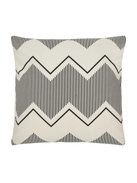 Poszewka na poduszkę w stylu boho Indy, 100% bawełna, Biały, czarny, S 45 x D 45 cm