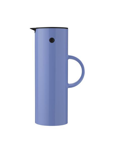 Thermoskan EM77 in glanzend blauw, 1 L, ABS met glazen inleg, Blauw, Ø 11 x H 30 cm