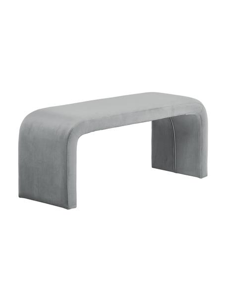 Moderne fluwelen bank Penelope, Bekleding: fluweel (100% polyester), Frame: metaal, multiplex, Grijs, 110 x 45 cm